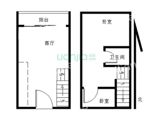 房子是复式楼 朝南户型,地理位置方便