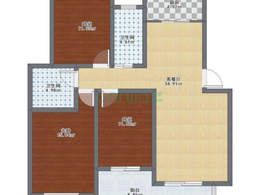 黄金之城 3室2厅 南