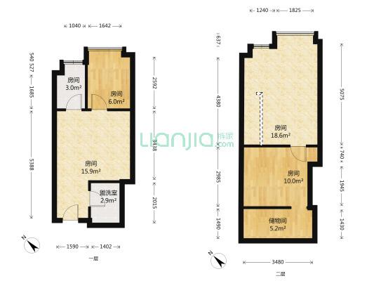 龙城国际 3室1厅 东南