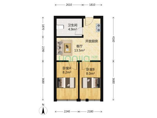 蜜蜂城公寓房,小两房,万达商圈,石湖公园
