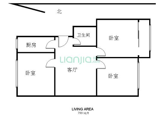 和平二区 小套三 有五平米地下室