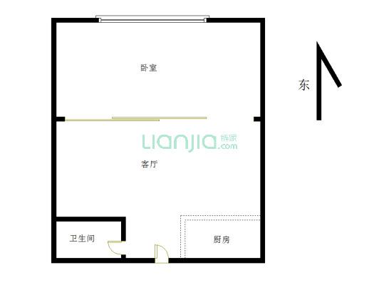 西湖苑 1室1厅 东
