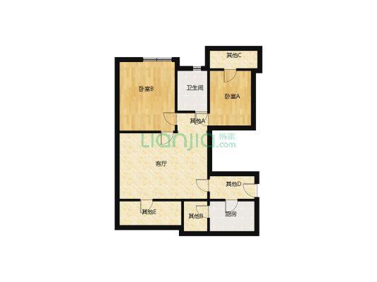 新世纪华庭 2室2厅 东南