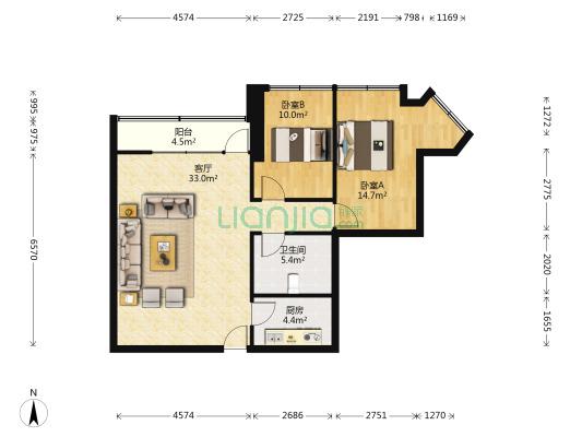 环球大厦出售、楼层好、采光好、有2室、适合一家居住