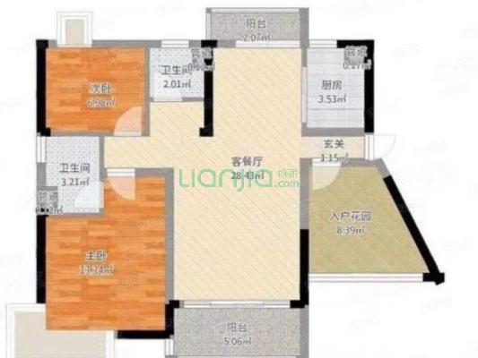 常平广场 3室2厅 东南
