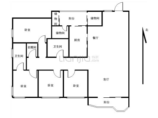 渝中区新东福花园 超大四房两厅可拎包入住