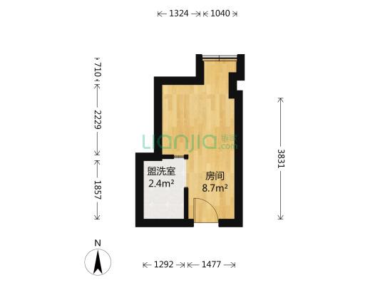 龙城1号 1室0厅 北
